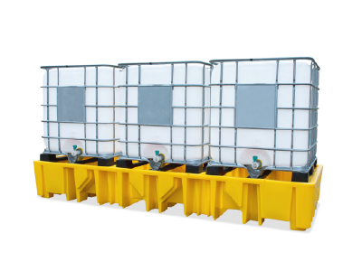 Stackable Triple IBC Spill Pallet